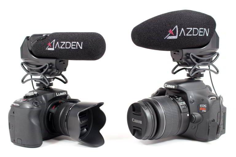 SMX-15 Microfono mono, spinotto Jack tipo TRS da 3,5mm, booster +20 dB. Supporto anti-shock integrato. Fornito con spugnetta antivento.