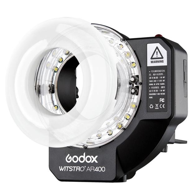 GODOX AR-400 FLASH ANULARE BEAUTY E VIDEO LED - 400 W/S - NG 36