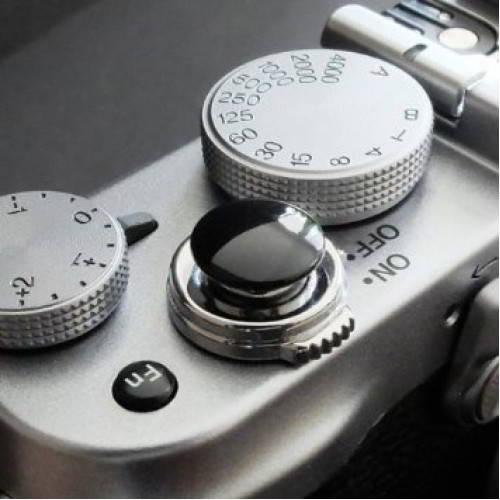 Pulsante di scatto per Fuji X / Leica black concavo
