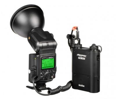 AD360II-C Witstro TTL Flash Portatile Canon + Alimentatore