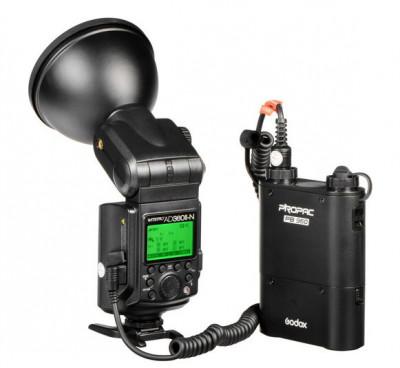 AD360II-N Witstro TTL Flash Portatile Nikon +Alimentatore