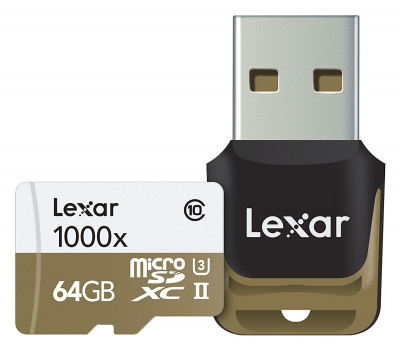 64 GB microSDXC UHS-II 1000x w/Reader1