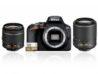 D3500 AF-P 18-55VR+AF-S 55-200VR+SD 32GB