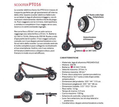 SWISS-GO WINDGO M16 MONOPATTINO ELETTRICO